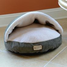 Armarkat Burrow Pet Bed - Green/Ivory