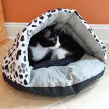 Armarkat Burrow Pet Bed - Sage Green/Paw Print