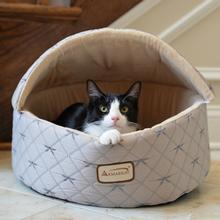 Armarkat Burrow Pet Bed - Silver/Beige