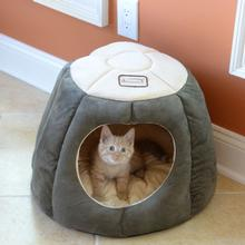 Armarkat Covered Pet Bed - Green/Beige
