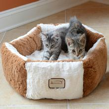 Armarkat Pet Bed - Brown/Ivory