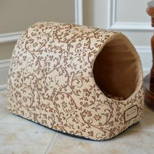Armarkat Pet Bed Cave - Beige Flower