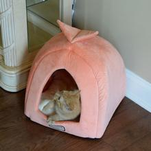 Armarkat Pet Bed Cave - Orange/Ivory