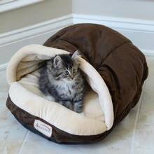 Armarkat Slipper Shape Pet Bed - Mocha/Beige
