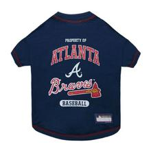 Atlanta Braves Dog T-Shirt - Blue