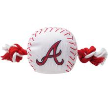 Atlanta Braves Nylon Plush Baseball Rope Dog Toy