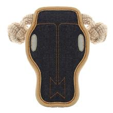 Aussie Naturals Denim Tuffs Dog Toy - Steer Skull