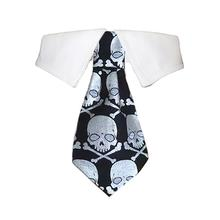 Crossbones Dog Shirt Collar and Tie