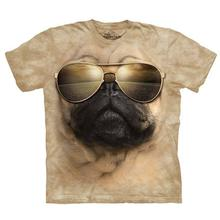 Aviator Pug - Human T-Shirt by The Mountain