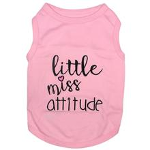 Little Miss Attitude Dog Tank by Parisian Pet - Pink