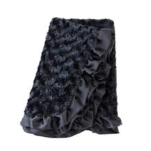 Baby Ruffle Dog Blanket by Hello Doggie - Black