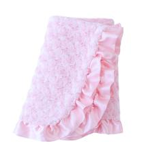 Baby Ruffle Dog Blanket by Hello Doggie - Baby Pink