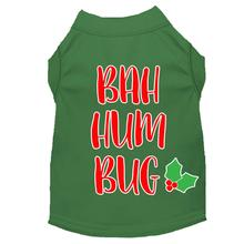 Bah Humbug Christmas Dog T-Shirt - Green