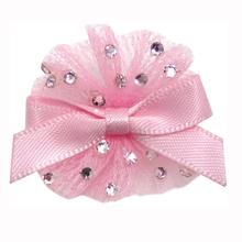 Ballerina Dog Bow with Alligator Clip - Pearl Pink