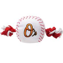 Baltimore Orioles Nylon Plush Baseball Rope Dog Toy