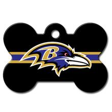 Baltimore Ravens Engravable Pet I.D. Tag - Bone