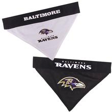 Baltimore Ravens Reversible Dog Bandana Collar Slider