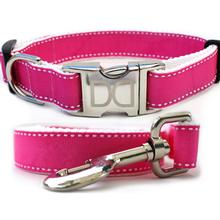 Preppy in Pink Dog Collar and Leash Set by Diva Dog