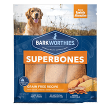 Barkworthies SuperBone Ancient Grain Dog Treat - Bacon, Cheese and Sweet Potato