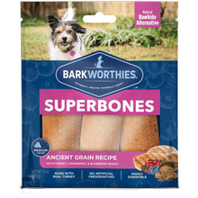 Barkworthies SuperBone Ancient Grain Turkey BlueCran Dog Treat