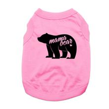 Mama Bear  Dog Shirt - Light Pink