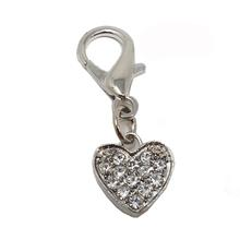 Basic Heart D-Ring Pet Collar Charm by foufou Dog - Clear