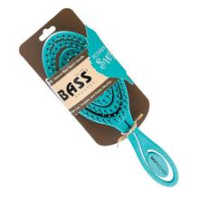 BASS Brushes Eco-Flex Pet Detangler Hair Brush - Teal Swirl