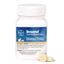 Bayer Drontal Broad-Spectrum Dewormer for Cats and Kittens - 50 Tablets