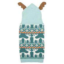 Be Good Antler Dog Sweater - Teal