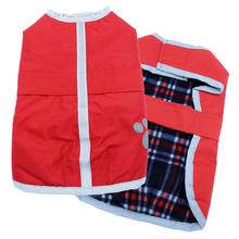 Be Good Reversible Nor'Easter Dog Jacket - True Red/Navy Plaid