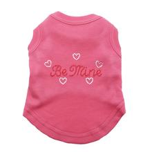 Be Mine Rhinestone Dog Tank - Bright Pink