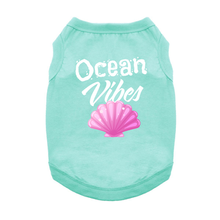 Ocean Vibes Dog Shirt - Aqua