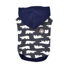 Beale Hooded Dog Shirt By Puppia - Navy