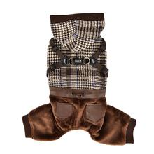 Becker Jumpsuit Dog Hoodie by Puppia - Brown