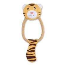 BECO PLAY Dual Material Dog Toy - Tiger