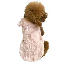 Bella Luxury Faux Fur Dog Coat - Blush