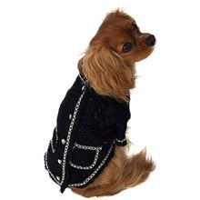 Doggie Coco Luxury Dog Jacket by The Dog Squad - Black and White