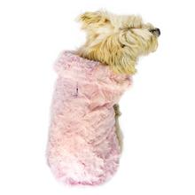 Bella Luxury Faux Fur Dog Coat - Light Pink