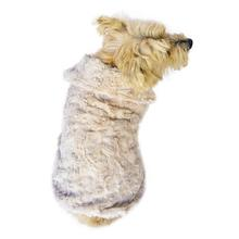 Bella Luxury Faux Fur Dog Coat - Taupe