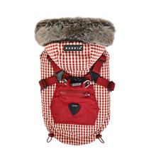 Bellamy Hooded Dog Vest by Puppia - Burgundy