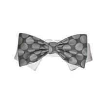 Bentley Dog Shirt Collar and Bow Tie - Silver Polka Dot