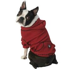 Bentley's Fur Trimmed Hoodie - Red
