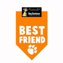 Best Friend Dog Bandana - Orange