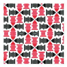 Fire Hydrant Dog Bandana - Red/Black