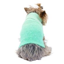 Beverly Hills Luxury Sparkle Dog Sweater by The Dog Squad -  Seafoam Dip Dye