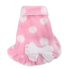 Big Dot Pullover Dog Dress - Pink and White