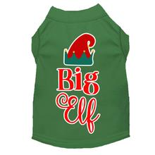 Big Elf Christmas Dog T-Shirt - Green