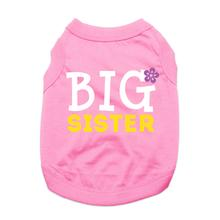 Big Sister Dog Shirt - Pink