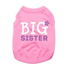 Big Sister Dog Shirt - Light Pink