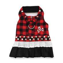 Biker Dress Dog Harness by Doggles - Buffalo Plaid
